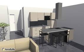 cuisine avec presqu ile aménager un salon salle à manger cuisine 29m2