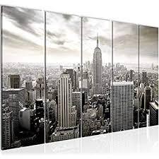 wandbilder new york skyline leinwand bilder 5 teilig
