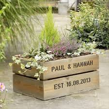 Planter Wood Crates Diy Wooden Crate Planters Garden Home Design 17