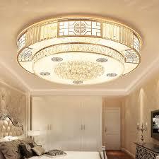 chinesische kristall led deckenleuchte rund schlafzimmer