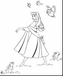 Stunning Sleeping Beauty Coloring Pages Printable With Page