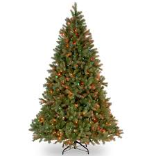 National Tree Company 65 Ft Downswept Douglas Fir Artificial Christmas With Multicolor Lights