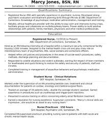 How To Write A Nursing Resume Entry Level RN Sample