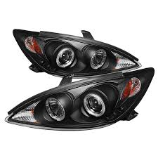 spyder auto toyota camry 02 06 projector headlights led halo