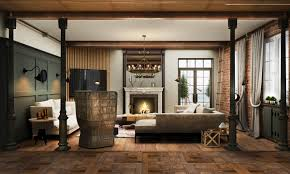 Living Room Rustic Style Exposed Brick High Chairs Rugs For Gray Sofa