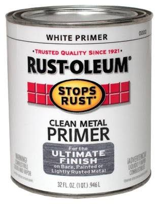 Rust-Oleum Clean Metal Primer - Flat White, 32oz