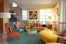 wohnzimmergestaltung ideen im retro stil