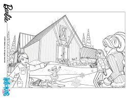 Barbies Snowy Cottage Coloring Pages