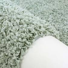 bettumrandung shaggy hochflor teppich einfarbig pastell grün modern für das schlafzimmer 2x 70x140cm 1x 70x250