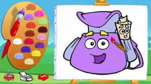 Dora The Explorer Back Pack Mochila Coloring Game For Childrens