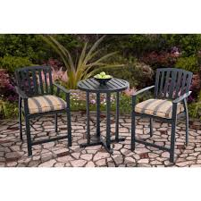Shop Berry Pointe Black Aluminum And Fabric High Bistro Set - Free ... Pub Tables Bistro Sets Table Asuntpublicos Tall Patio Chairs Swivel Strathmere Allure Bar Height Set Balcony Fniture Chair For Sale Outdoor Garden Mainstays Wentworth 3 Piece High Seats Www Alcott Hill Zaina With Cushions Reviews Wayfair Shop Berry Pointe Black Alinum And Fabric Free Home Depot Clearance Sand 4 Seasons Valentine Back At John Belden Park 3pc Walmartcom