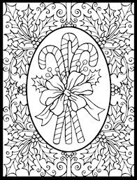 Coloring Pages Santas Sleigh Christmas Tree Intricate Hand Stock
