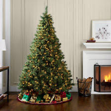 9 Ft Pre Lit Christmas Trees by 9 Ft Pre Lit Dual Color Led Ez Connect Christmas Tree Ebay