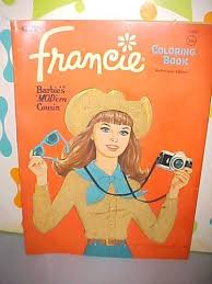 Vintage 1968 Whitman Barbie Cousin Francie Doll Coloring Book
