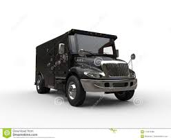 Black Armored Box Truck Stock Illustration. Illustration Of Highway ...