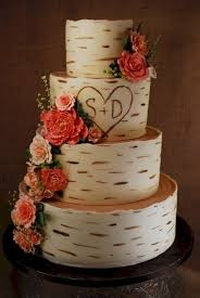 Rustic With Stand WeddingInclude Remarkable Design Wood Wedding Cake Interesting Ideas Birch Grain Cup A Dee Cakes LLC