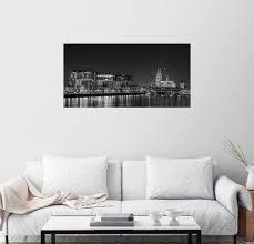 posterlounge wandbild köln skyline am abend schwarz weiß kaufen otto