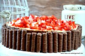 no bake schokoladen erdbeer torte