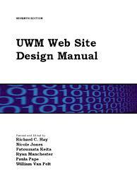 Uwm Sandburg Help Desk by Manual Of Web Design 2016 Pdf Html Html Element