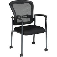 office pro line ii progrid guest chair with wheels titanium