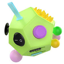 12 Sided Fidget Cube ATiC Twiddle Dodecagon Rubiks Stress Relief Hand Toy