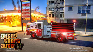 100 Gta Iv Fire Truck Mods Grand Theft Auto IV FDLCFDNY Day 42 With The Fire Department