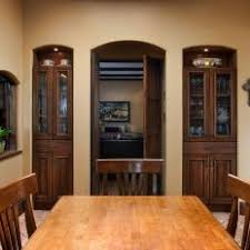 Breakfast Room With Built In China Cabinets