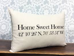 personalized pillow home sweet home coordinates pillow