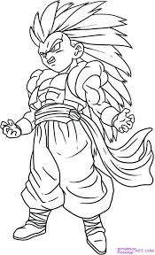 Dragon Ball Z Coloring Pictures Printable Draw Pages Goku Super Saiyan 4 Full Size