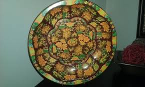 Daher Decorated Ware Tin Tray by Vintage Musical Made In Japan Floral Teapot Gold Trim Works By