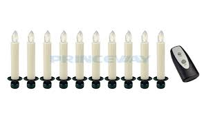 Simulated LED Candles Controlled By IR Remote With Clip On Christmas Trees Lnl 007