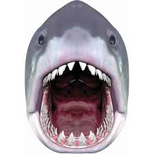 White Halloween Contacts Walmart by Giant Shark Head Mask Halloween Accessory Walmart Com