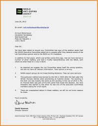 Offizieller Brief Ende