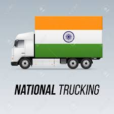100 National Trucking Symbol Of Delivery Truck With Flag Of India