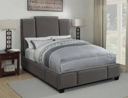 Gray Velvet King Headboard by Lawndale Grey Velvet Fabric Cal King Size Bed W Three Panel