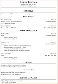 Resume College Education Student Degree Example Internship Resumes Computer Science Internships Accounting Curriculum Vitae Format High School Engineering