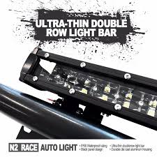 bright ultra thin slim dual row led light bar with lifetime