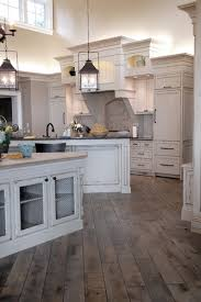 Gray Hardwood Floors In Kitchen Enormous Breathtaking Distressed And Stained Interiors 10