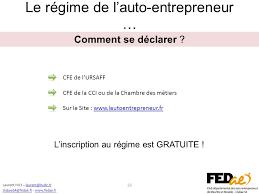 declaration auto entrepreneur chambre des metiers devenir auto entrepreneur ppt télécharger