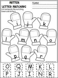 Free cut and paste letter matching activity for winter i r Cut