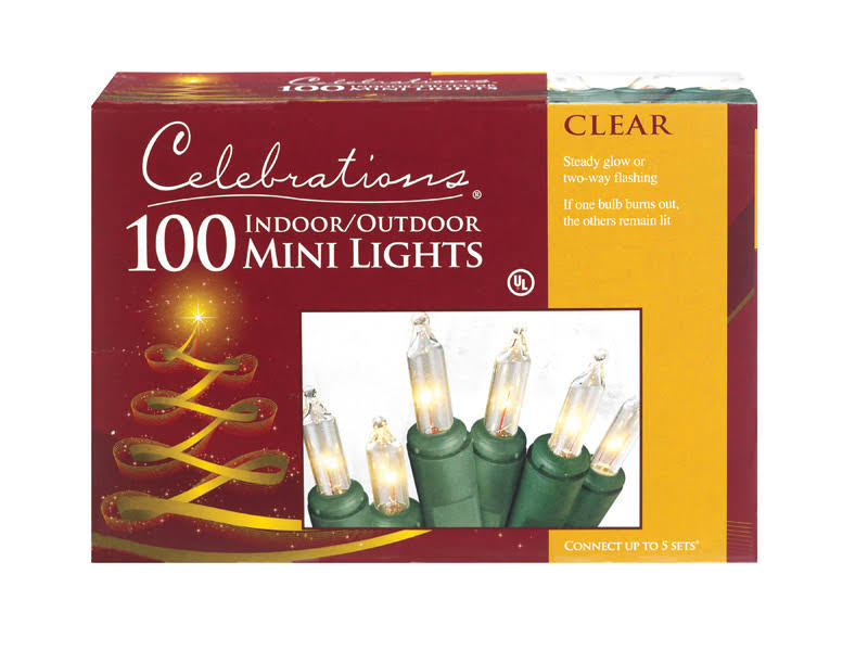 Celebrations Indoor And Outdoor Mini Lights - Clear, 100 ct