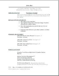 Veterinary Resume Samples Here Are Assistant Vet Tech Examples Objective Curriculum Vitae Example