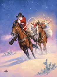 Leanin Tree Horse Christmas Cards by Santa U0027s Big Ride The Old West Art Of Jack Sorenson