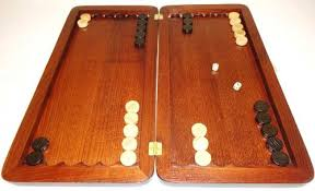 20 Tournament Classic Wooden Backgammon Set High Quality