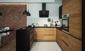u form küchenzeile malmo einbauküche 165x246x285cm lava front permbroke ares black