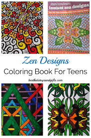Beautiful Zen Design Coloring Book For Teens And Adults