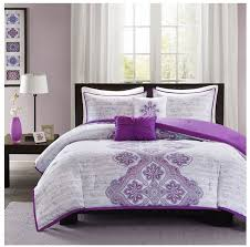 Bohemian Bedding Twin Xl by New Bed Bag Twin Xl Full Queen 5 Pc Purple Gray Grey Medallion