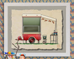Motorcycle Camper Happy Art Cute Whimsical Travel Trailer And Prints Add Fun To