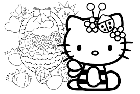 Easter Coloring Pages Disney Characters Hello Kitty To Download And Print For