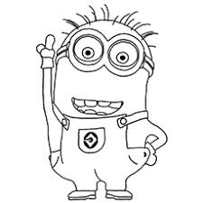 Mark Two Eyed Minion With Combed Hair